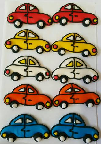 2D Icing Cars 30mm (60 ASSORTED)