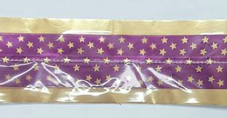 Cake Band Star Purple/Gold 63mm (7m)