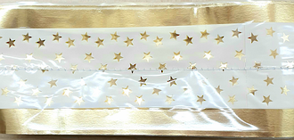 Cake Band Star White/Gold 63mm (7m)