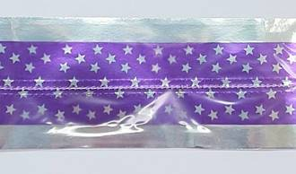 Cake Band Star Purple/Silver 63mm (7m)