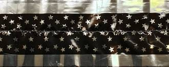 Cake Band Star  Black/Silver 63mm (7m)
