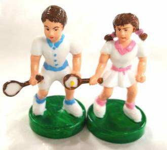 Tennis Players 60mm (Pair)