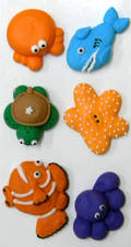 Sea Collection, 2D Assorted Icing Items (Retail Box of 6)