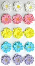 Dainty 2D Icing Flowers, Assorted, 20mm (Box of 60)