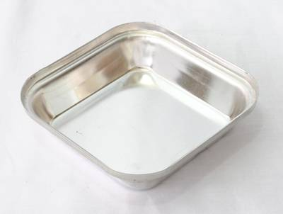 Tin plate pie tin, Square 108 x 27mm, Loose tin plated pie tins