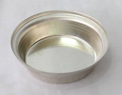 Single Pie Tin, Round 113x29mm, Tin Plated