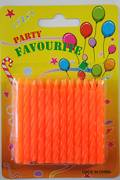 Orange Twist Candles 60mm  Packet of 24