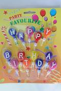 Happy Birthday Balloon Candles, 30mm