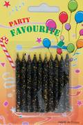 Candle Glitter Black 60mm (10)