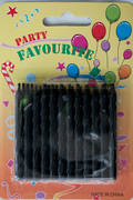 Black Twist Candles.  Packet of 24
