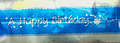Cake Band Happy Birthday Blue/Silver 63mm (7m)