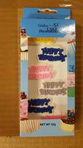 Edible Happy birthday Mottos- Asst'd Box of 6