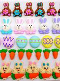 Easter Collection, Assorted 2D Icing Items (Wholesale Box of 45)