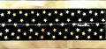 Cake Band Star Black/Gold 63mm (7m)