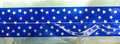 Cake Band Star Royal Blue/Silver 63mm (7m)