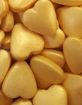 Gold Tablet Hearts 1Kg Bag