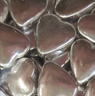 Silver Tablet Hearts 1Kg Bag