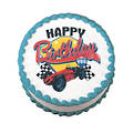 Vintage Racing Edible Icing Image round 16cm