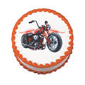 American Cycle Edible Icing Image round 16cm
