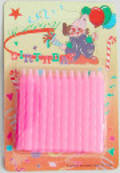 Light Pink Twist Candles.  Packet of 24