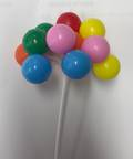 80mm Multi-Colour Balloons Pick-Bunch of 12