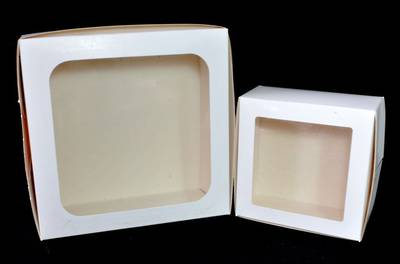 "Cake Boxes 9"" x 9"" x 4"" with clear lid (Bundle of 100)"