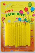 Yellow Twist Candles 60mm  Packet of 24