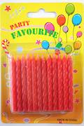 Red Twist Candles 60mm  Packet of 24