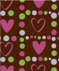 Chocolate Transfer Sheets (5 Sheets per Packet), Pretty2