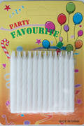 White Twist Candles 60mm  Packet of 24