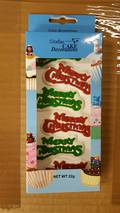 Edible Merry Christmas Mottos- Asst'd Box of 6