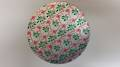 "Large Holly - Green, Red, Silver, 10"" Round Cake Card, 4mm"